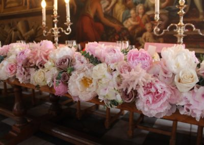 Painted Hall Pink top table