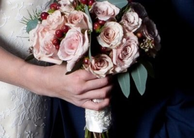 Sandstorm Rose & Hypericum Bridal Bouquet