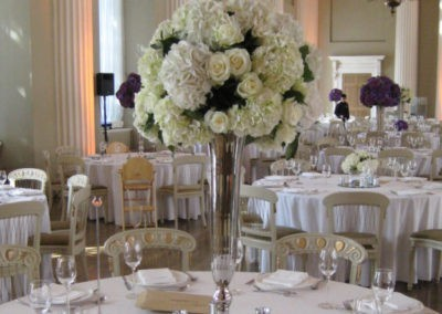 Tall Silver Trumpet Vase Table Centre
