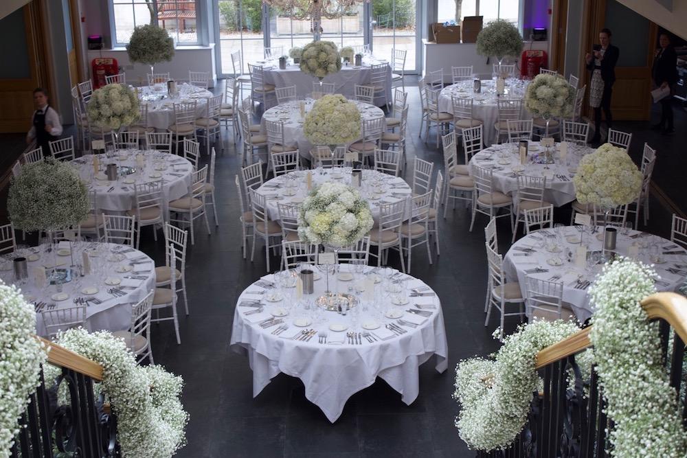 Tall Table Centres at Botleys Mansion