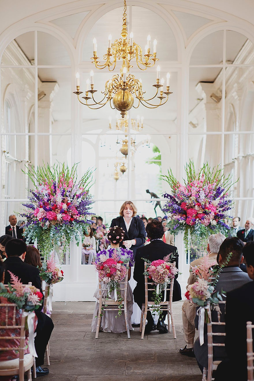Wedding Flowers at The Orangery, Holland Park