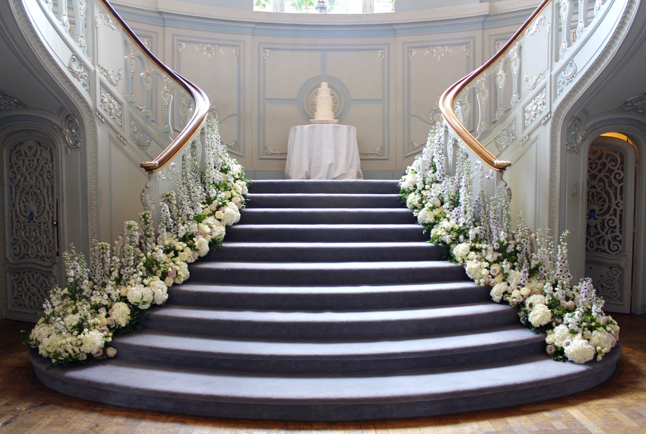 Savile Club Ballroom Staircase Flowers