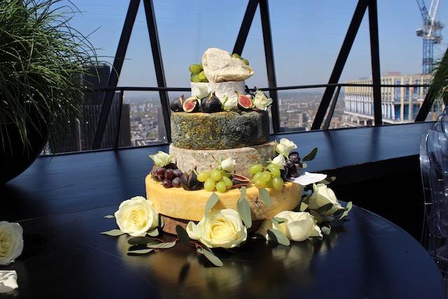 Gherkin Cake Wedding Flowers