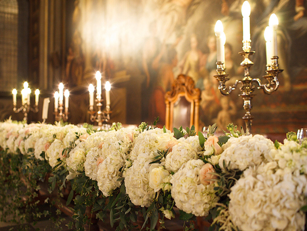 Painted Hall Top Table Flowers
