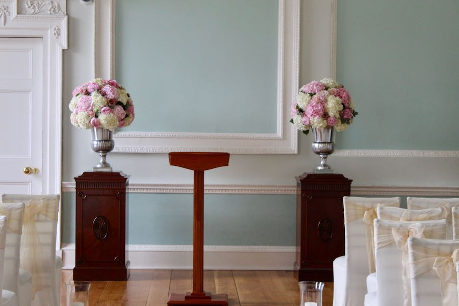 Botleys MansionUrn Display Wedding Flowers
