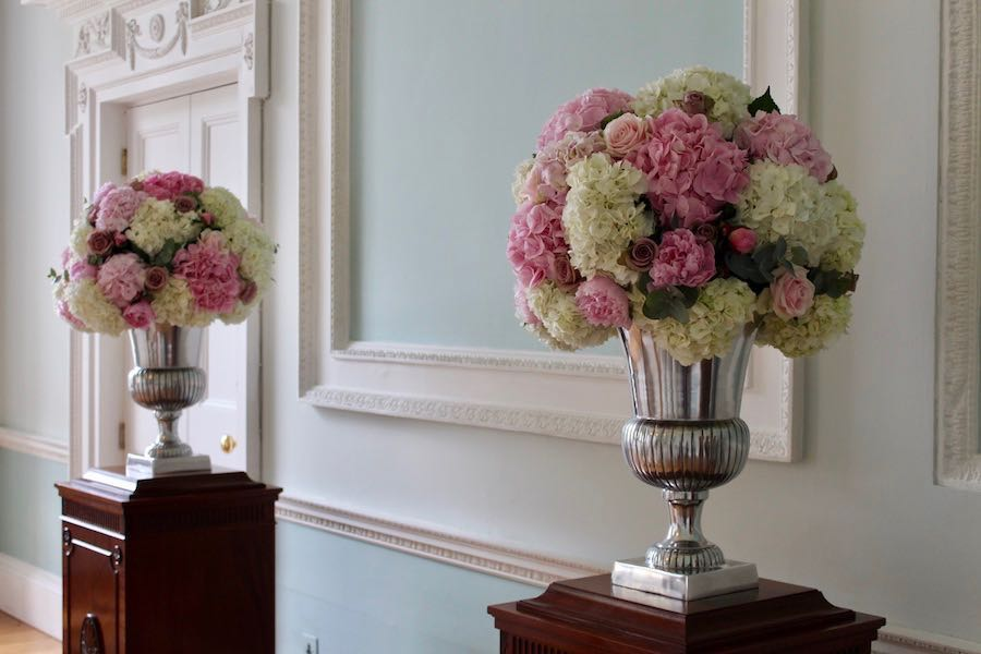Botleys MansionUrn Display Wedding Flowers