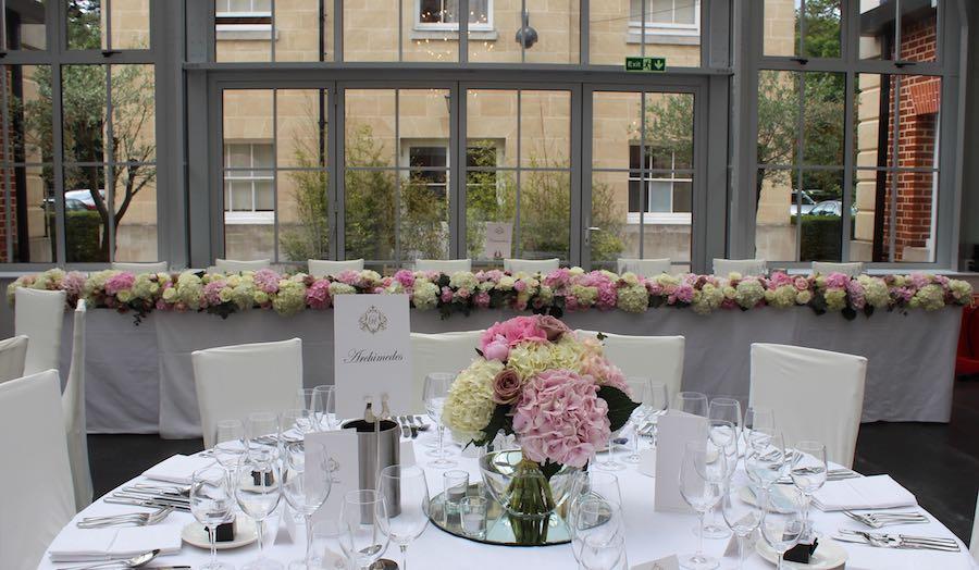 Botleys Mansion Top Table Wedding Flowers