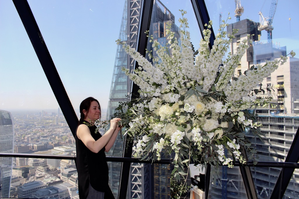 Gherkin Cake Wedding Flowers