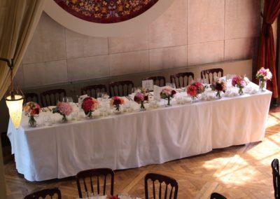 Belvedere Wedding Flowers Top Table