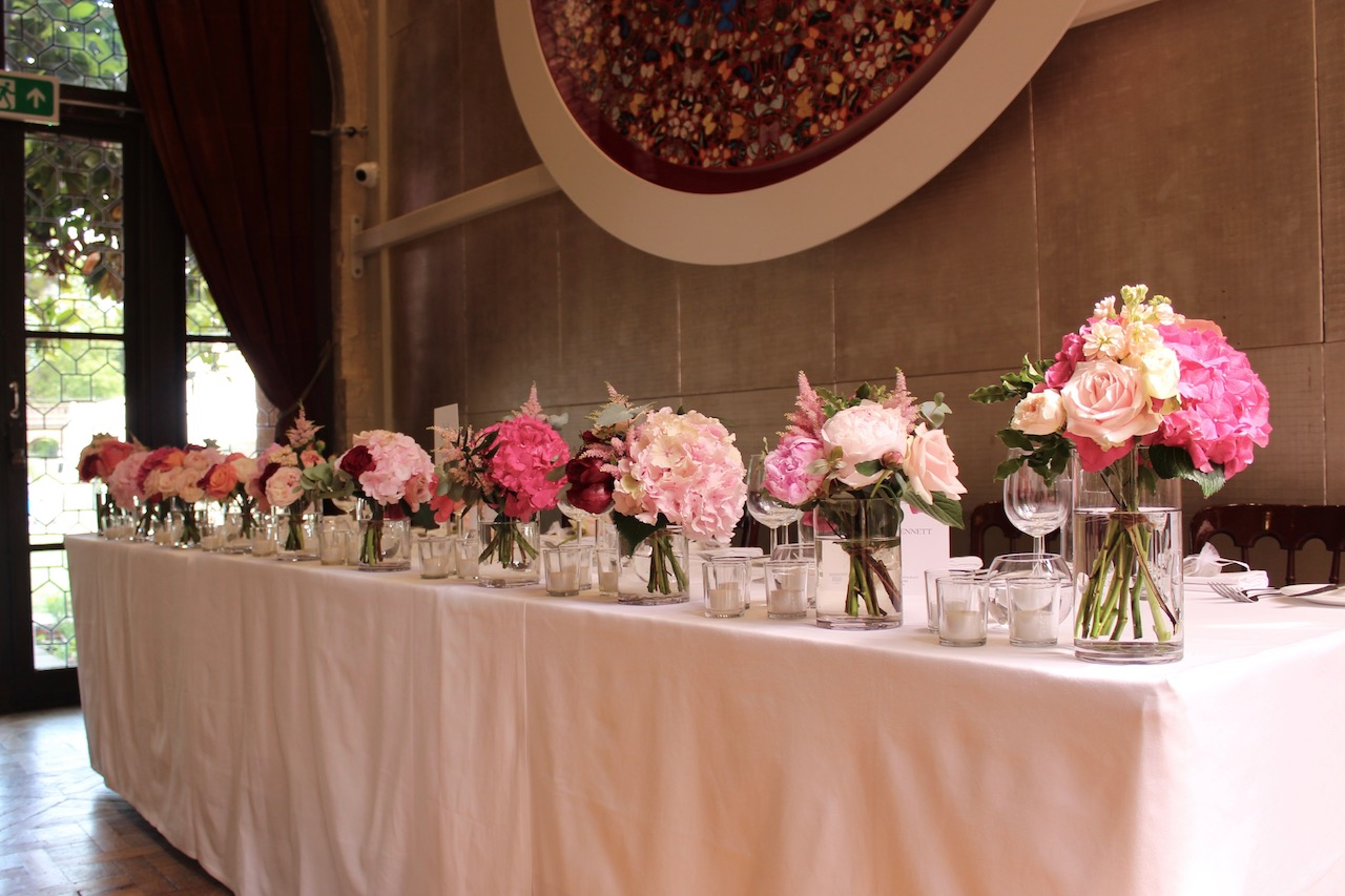 Top Table Wedding Flowers at The Belvedere, Holland Park