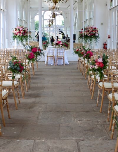 The Orangery Ceremony Wedding Flowers