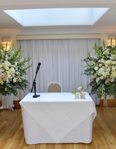 Pembroke Lodge Wedding Flower Pedestals