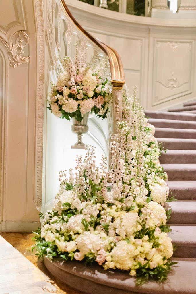 Ballroom Staircase Urn Display