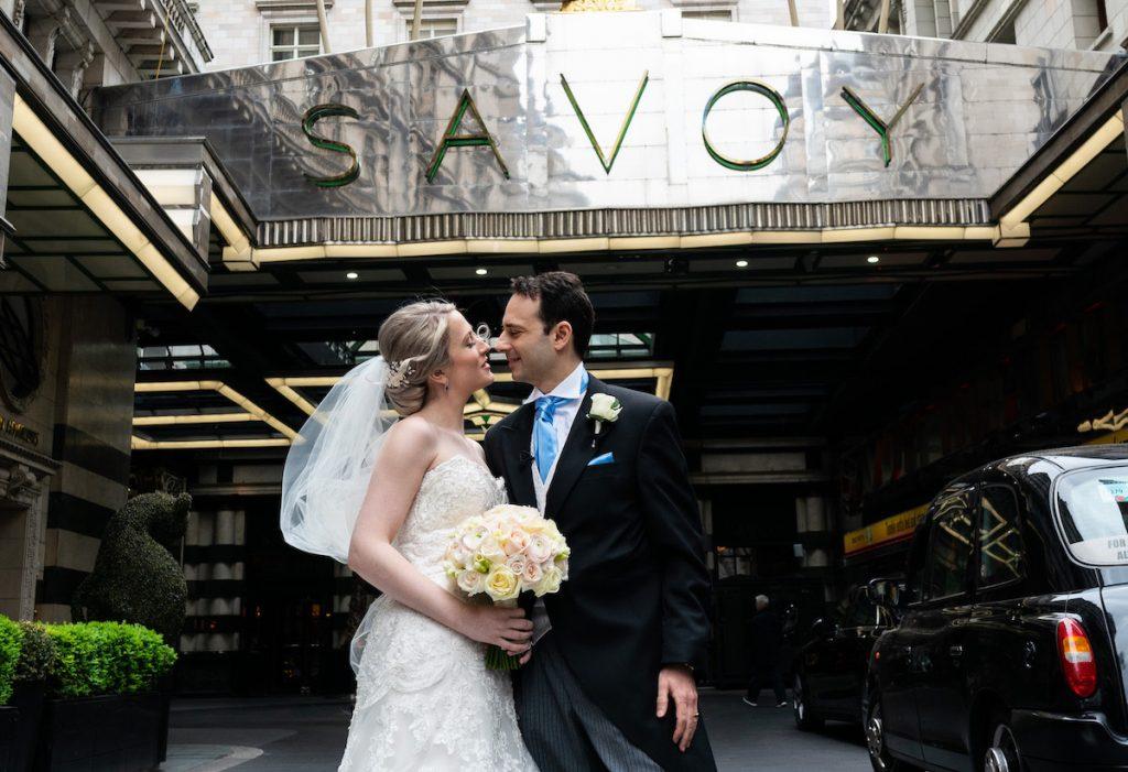 Sara & Kayvan's Wedding Flowers at The Savoy Hotel