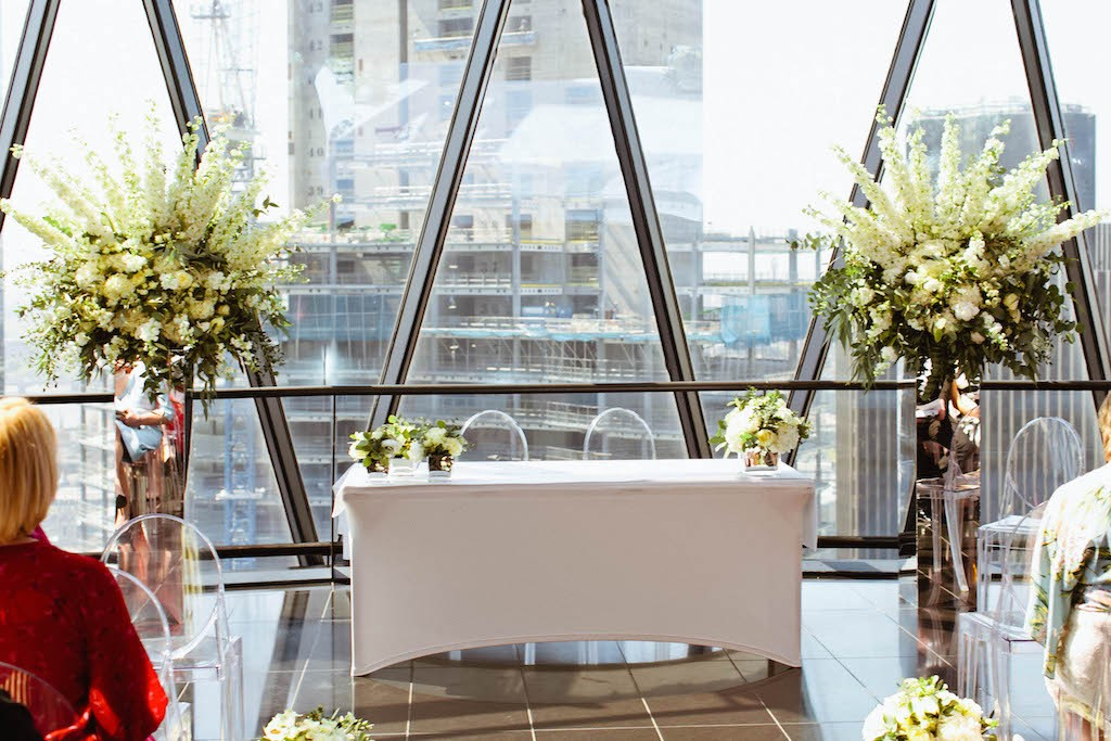 Gherkin Wedding Flowers