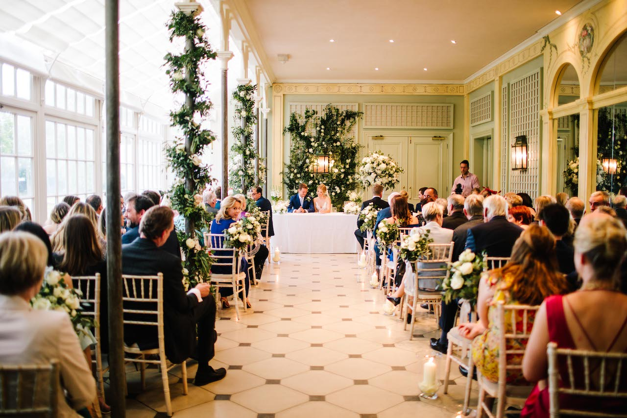 The Hurlingham Club Wedding Reception Flowers