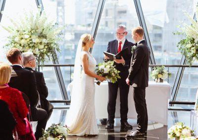 Esme & Michael's Wedding Flowers at The Gherkin