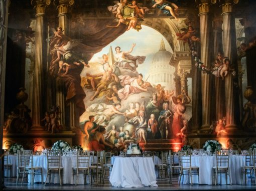 Stephanie and Steven's Wedding Flowers at Painted Hall