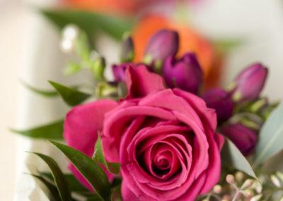 Pink Rose & Freesia Corsage