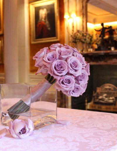 Ocean Song Lilac Rose Bridesmai Bouquet