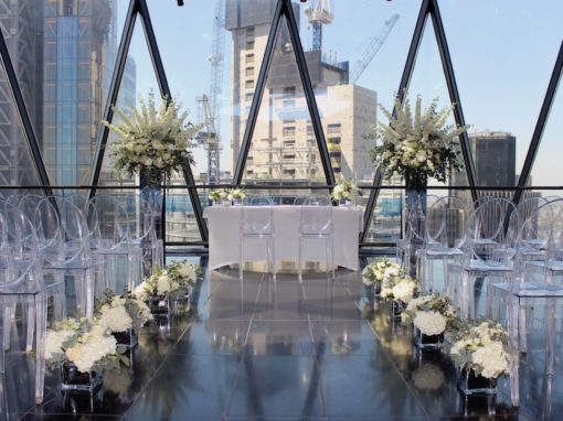 Wedding Flowers at The Gherkin