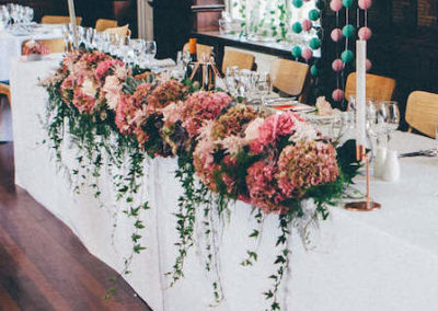 Top Table Wedding Flowers at Dulwich College