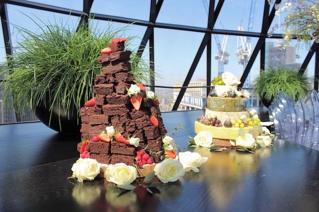 Gherkin Wedding Cake Flowers