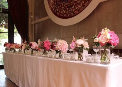 The Belvedere Wedding Flowers Top Table