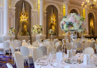 Corinthia Ballroom Tall Table Centre Flowers