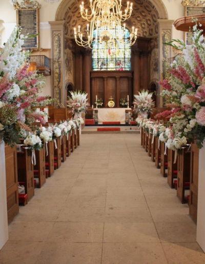 St Alfege Church Wedding Ceremony Flowers