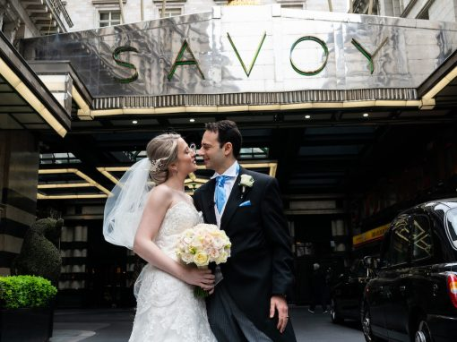 Sara & Kayvan's Wedding Flowers at The Savoy Hotel