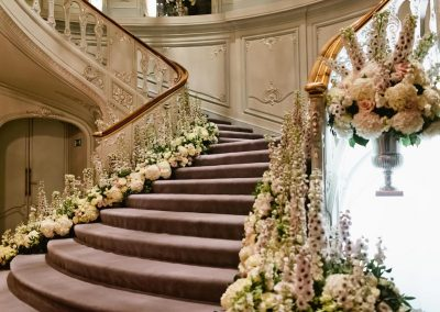 Savile Club Ballroom Staircase Flowers