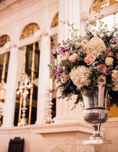 Dartmouth House Urn Wedding Flowers