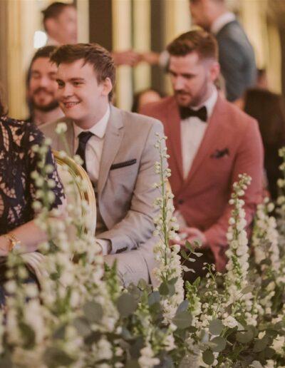aisle wedding flowers at Cafe Royal, London