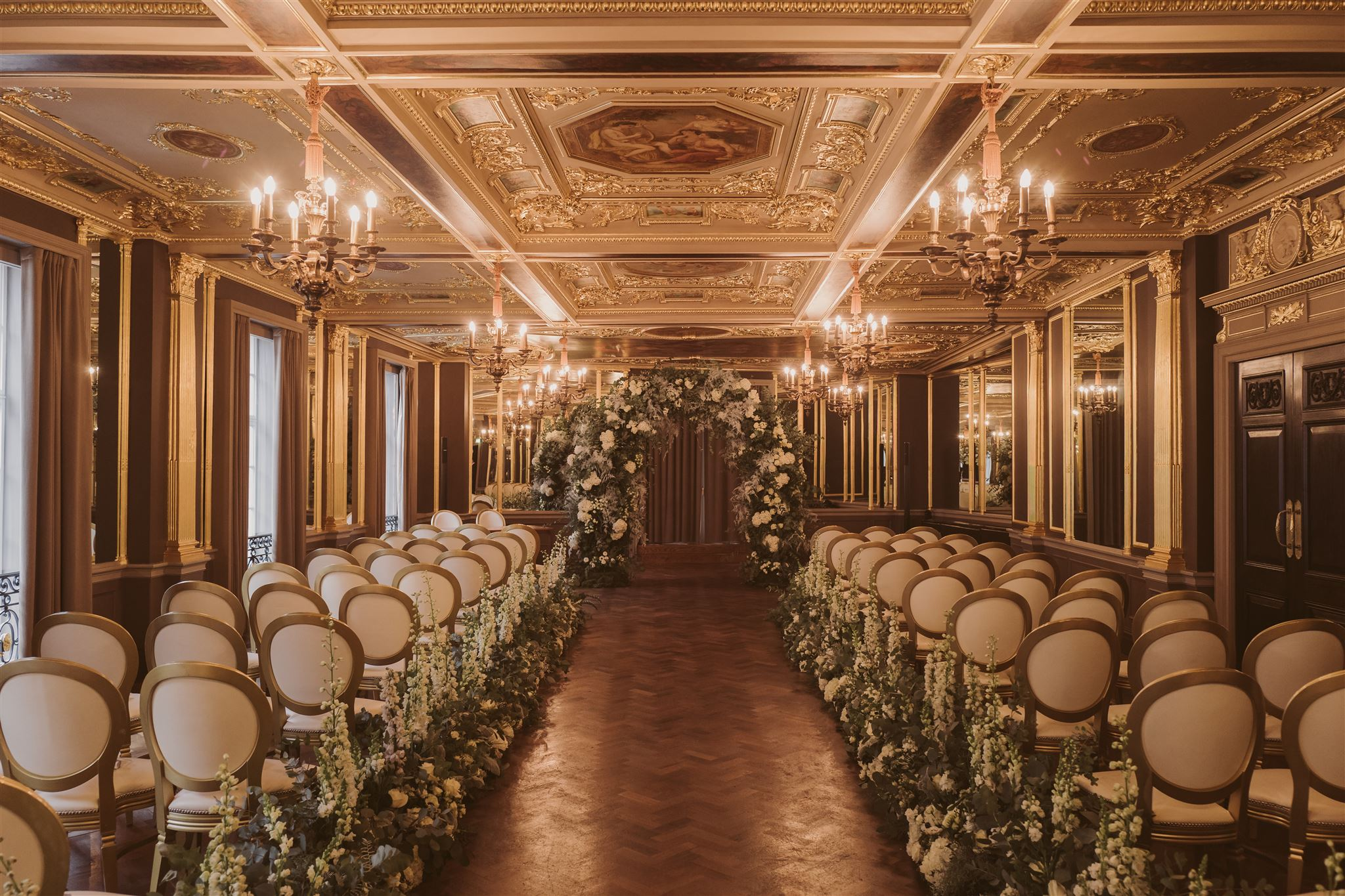 Wedding flowers at Cafe Royal, London by Rachel Morgan Wedding Flowers