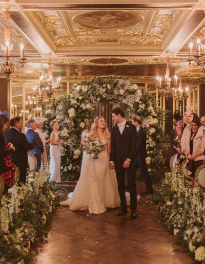 Emily and Harvey's Wedding at Cafe Royal, London by Rachel Morgan Wedding Flowers