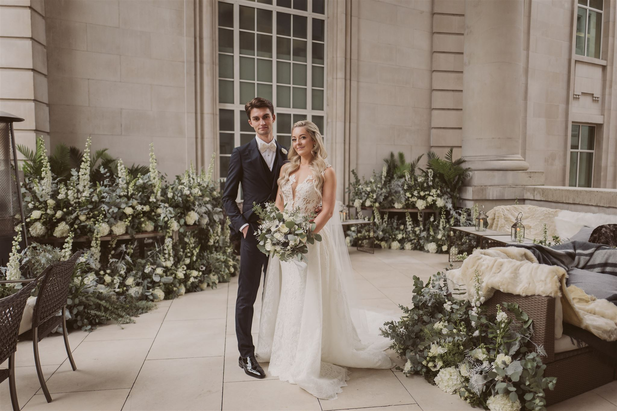 Wedding Flowers at Cafe Royal, London by Rachel Morgan