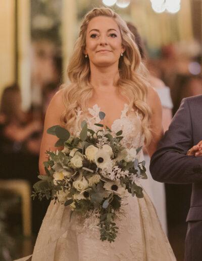 Emily's bridal bouquet