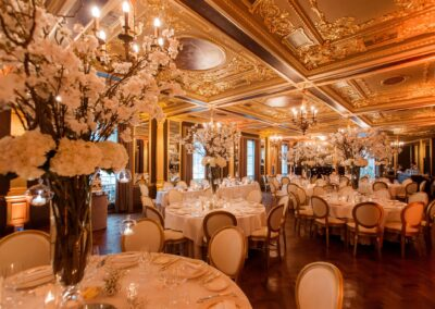 Blossom table centres by Rachel Morgan Wedding Flowers