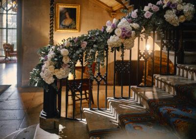 Stairway & Decor Flowers