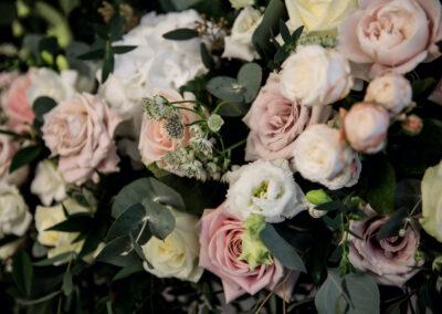 Nadia & Ciaran's wedding flowers at Brown's Hotel
