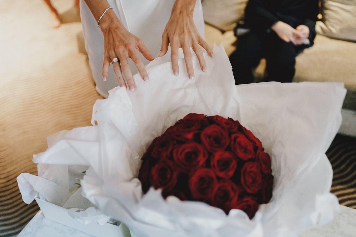 Domed rose bridal bouquet by Rachel Morgan Wedding Flowers