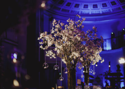 The Lansdowne Club wedding reception flowers by Rachel Morgan Wedding Flowers